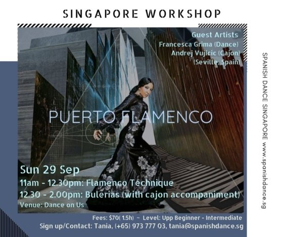 Spanish Dance Flamenco Singapore Francesca Grima