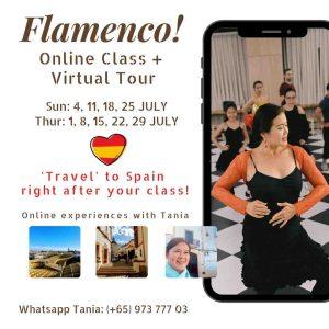 Online Flamenco classes Spanish Dance Singapore